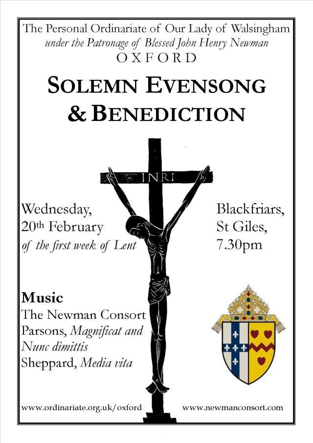 Lent Evensong poster