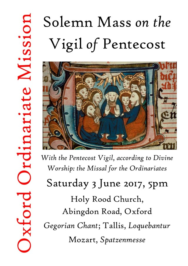 Vigil of Pentecost poster